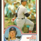 1983 Topps Traded # 80T Boston Red Sox Jeff Newman ex/nm