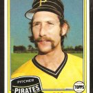 1981 Topps Baseball Card # 194 Pittsburgh Pirates Rod Scurry nr mt