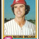 1981 Topps Baseball Card # 202 Philadelphia Phillies Steve Carlton Record Breaker nr mt
