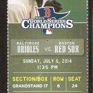 Baltimore Orioles Boston Red Sox 2014 Ticket Nelson Cruz J.J. Hardy David Ortiz