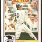 1987 Topps Glossy All Star Baseball Card # 18 New York Yankees Rickey Henderson nr mt