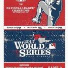 2013 World Series Ticket Game 2 Boston Red Sox St Louis Cardinals David Ortiz HR Michael Wacha