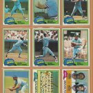 1981 Topps Atlanta Braves Team Lot 28 Dale Murphy Phil Niekro Gaylord Perry Bob Horner