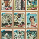1980 Topps New York Yankees Team Lot 28 Reggie Jackson Gossage Guidry Murcer
