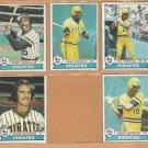 1979 Topps Pittsburgh Pirates Team Lot 10 Dave Parker Moreno Sanguillen Kison +