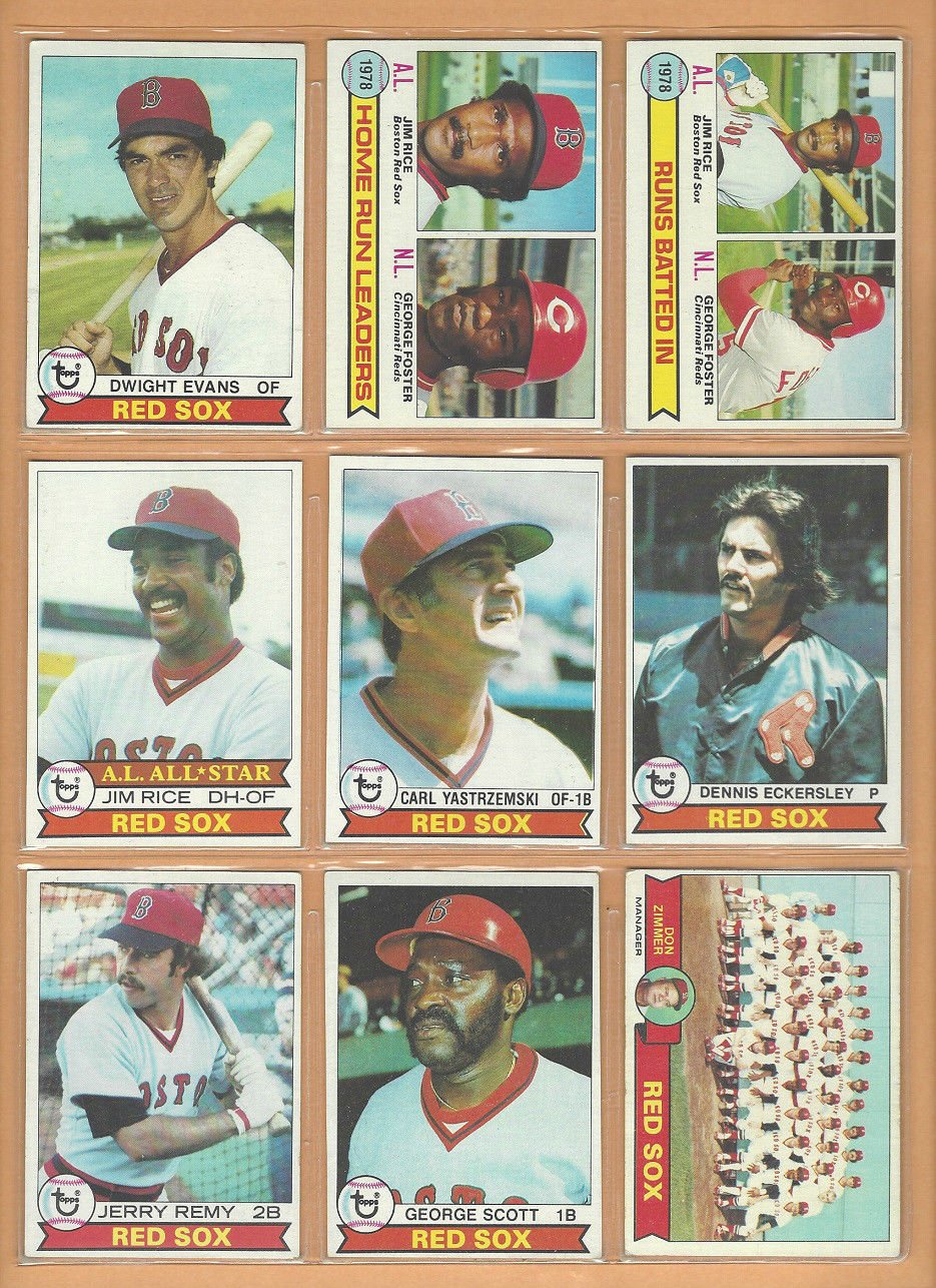 1979 Topps Boston Red Sox Team Lot 27 Yastrzemski Jim Rice Eckersley Team +