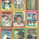 1975 Topps San Francisco Giants Team Lot 19 Dave Kingman Murcer Lavelle RC Team Card