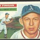 KANSAS CITY ATHLETICS JIM FINIGAN 1956 TOPPS # 22 EX