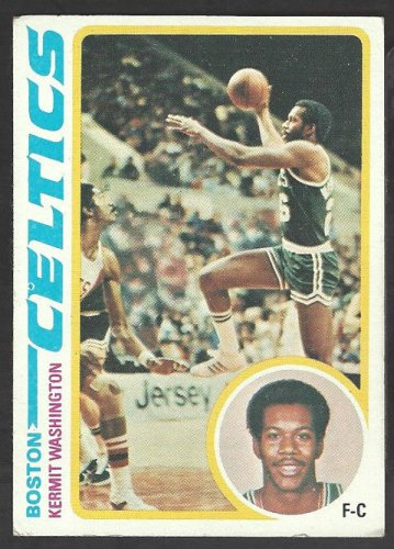 1978 Topps Basketball Card # 16 Boston Celtics Kermit Washington vg
