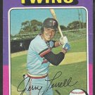 1975 Topps Baseball Card # 654 Minnesota Twins Jerry Terrell vg