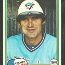 1981 Topps Baseball Card # 221 Toronto Blue Jays Bob Davis nr mt