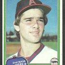 1981 Topps Baseball Card # 209 California Angels Dickie Thon nr mt
