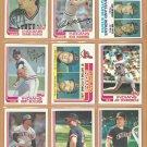 1982 Topps Cleveland Indians Team Lot 25 Charboneau Von Hayes Harrah Hargrove Blyleven Thornton