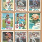 1982 Topps Cincinnati Reds Team Lot 24 Tom Seaver Concepcion Ken Griffey  George Foster