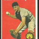 DETROIT TIGERS TIM THOMPSON 1958 TOPPS # 57 VG