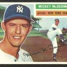 NEW YORK YANKEES MICKEY McDERMOTT 1956 TOPPS # 340 EX/EM