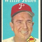 PHILADELPHIA PHILLIES WILLIE JONES 1958 TOPPS # 181 VG+