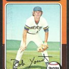 1975 Topps Baseball Card # 223 Milwaukee Brewers Robin Yount Rookie Card RC ex/em