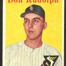 CHICAGO WHITE SOX DON RUDOLPH 1958 TOPPS # 347 EX