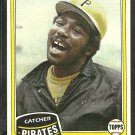 1981 Topps Baseball Card # 226 Pittsburgh Pirates Manny Sanguillen nr mt