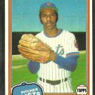 1981 Topps Baseball Card # 223 New York Mets Roy Lee Jackson nr mt