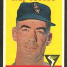 CHICAGO WHITE SOX RAY MOORE 1958 TOPPS # 249 EX