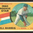 LOS ANGELES DODGERS BILL HARRIS 1960 TOPPS ROOKIE STAR # 128 G+