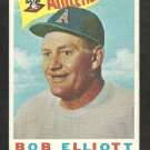 KANSAS CITY ATHLETICS BOB ELLIOT 1960 TOPPS # 215 G