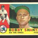 NEW YORK YANKEES BOBBY SHANTZ 1960 TOPPS # 315 VG