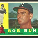 MILWAUKEE BRAVES BOB BUHL 1960 TOPPS # 374 EX