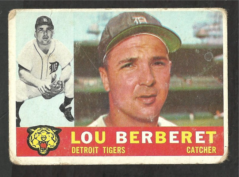 DETROIT TIGERS LOU BERBERET 1960 TOPPS # 6 G