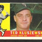 CHICAGO WHITE SOX TED KLUSZEWSKI 1960 TOPPS # 505 vg/ex