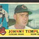 CLEVELAND INDIANS JOHNNY TEMPLE 1960 TOPPS # 500 F/G