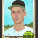 HOUSTON ASTROS CARROLL SEMBERA 1968 TOPPS # 207 EX/EM