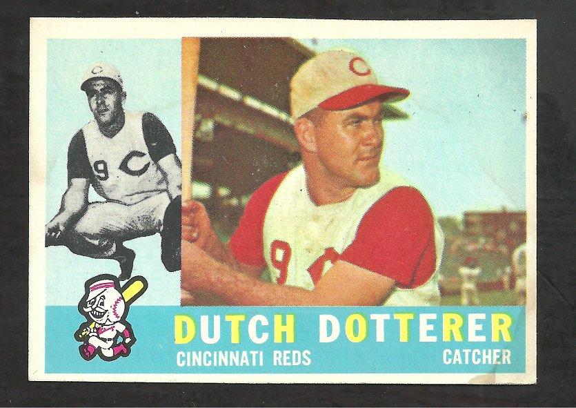 CINCINNATI REDS DUTCH DOTTERER 1960 TOPPS # 21