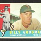 1960 Topps Baseball Card # 69 Chicago White Sox Billy Goodman