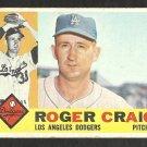 LOS ANGELES DODGERS ROGER CRAIG 1960 TOPPS # 62 G