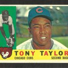CHICAGO CUBS TONY TAYLOR 1960 TOPPS # 294 VG