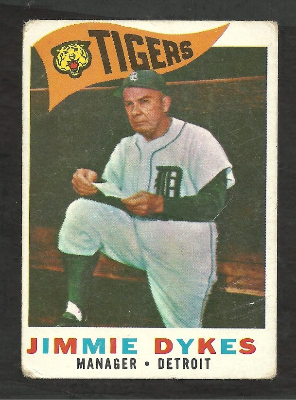DETROIT TIGERS JIMMIE DYKES 1960 TOPPS # 214 G