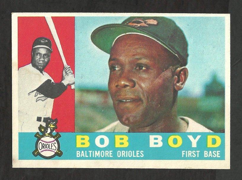 BALTIMORE ORIOLES BOB BOYD 1960 TOPPS # 207