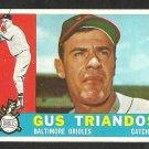 BALTIMORE ORIOLES GUS TRIANDOS 1960 TOPPS # 60 EX MT