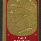 CINCINNATI REDS VADA PINSON 1965 TOPPS EMBOSSED INSERT # 42 VG+