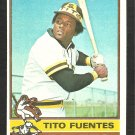 1976 Topps Baseball Card # 8 San Diego Padres Tito Fuentes ex