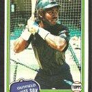 1981 Topps Baseball Card # 242 Chicago White Sox Chet Lemon nr mt