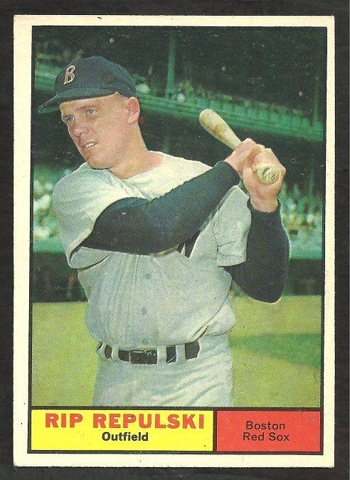 BOSTON RED SOX RIP REPULSKI 1961 TOPPS # 128 EX