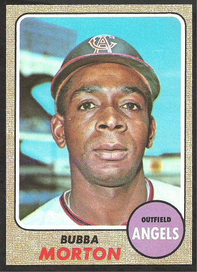 CALIFORNIA ANGELS BUBBA MORTON 1968 TOPPS # 216 EM/NM