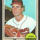 BALTIMORE ORIOLES JIM HARDIN 1968 TOPPS # 222 EX+/EM
