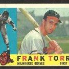 MILWAUKEE BRAVES FRANK TORRE 1960 TOPPS # 478 G