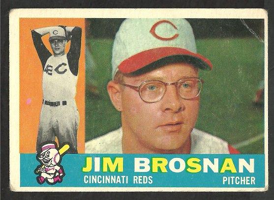 CINCINNATI REDS JIM BROSNAN 1960 TOPPS # 449 G