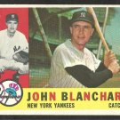 NEW YORK YANKEES JOHN BLANCHARD 1960 TOPPS # 283 EX